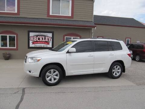 2010 Toyota Highlander for sale at Heckley Auto Sales & Service in Woodburn IN