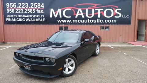 2013 Dodge Challenger for sale at MC Autos LLC in Pharr TX