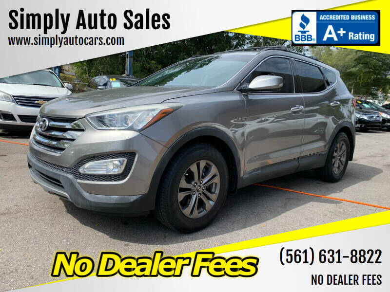 2014 Hyundai Santa Fe Sport for sale at Simply Auto Sales in Palm Beach Gardens FL