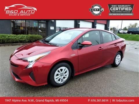2016 Toyota Prius for sale at B&D Auto Sales Inc in Grand Rapids MI