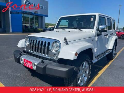 2017 Jeep Wrangler Unlimited for sale at Jones Chevrolet Buick Cadillac in Richland Center WI