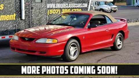 1998 Ford Mustang for sale at UNIQUE SPECIALTY & CLASSICS in Mankato MN