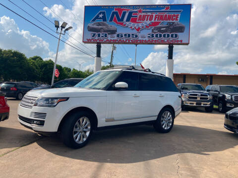 2015 Land Rover Range Rover for sale at ANF AUTO FINANCE in Houston TX