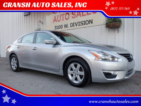 2015 Nissan Altima for sale at CRANSH AUTO SALES, INC in Arlington TX