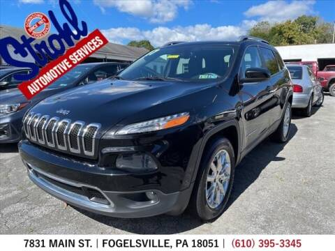 2017 Jeep Cherokee for sale at Strohl Automotive Services in Fogelsville PA