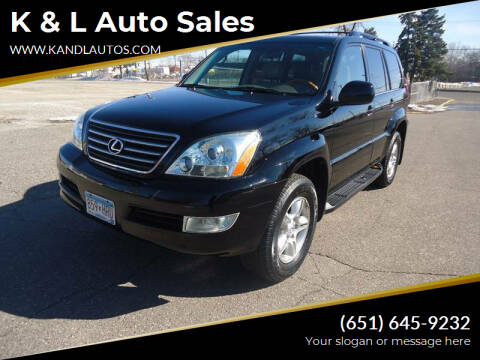 2007 Lexus GX 470 for sale at K & L Auto Sales in Saint Paul MN