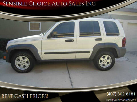 2007 Jeep Liberty for sale at Sensible Choice Auto Sales, Inc. in Longwood FL