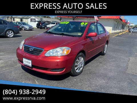 2007 Toyota Corolla for sale at EXPRESS AUTO SALES in Midlothian VA