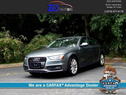 2016 Audi A4 for sale at Zed Motors in Raleigh NC