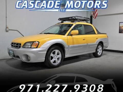 2003 Subaru Baja for sale at Cascade Motors in Portland OR
