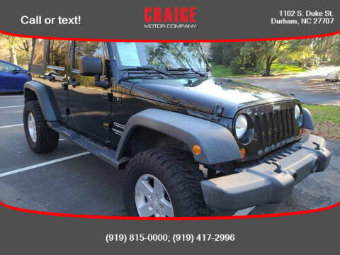 2012 Jeep Wrangler Unlimited for sale at CRAIGE MOTOR CO in Durham NC