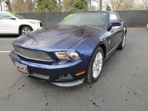 2012 Ford Mustang for sale at LULAY'S CAR CONNECTION in Salem OR
