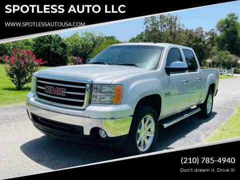 2012 GMC Sierra 1500 for sale at SPOTLESS AUTO LLC in San Antonio TX