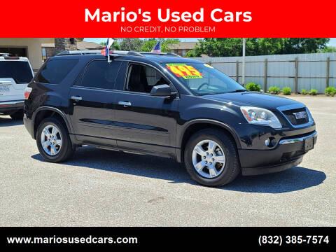 2012 GMC Acadia for sale at Mario's Used Cars - Pasadena Location in Pasadena TX