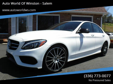 2018 Mercedes-Benz C-Class for sale at Auto World Of Winston - Salem in Winston Salem NC