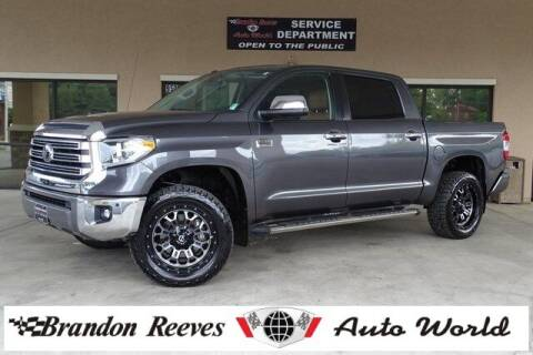 2019 Toyota Tundra for sale at Brandon Reeves Auto World in Monroe NC