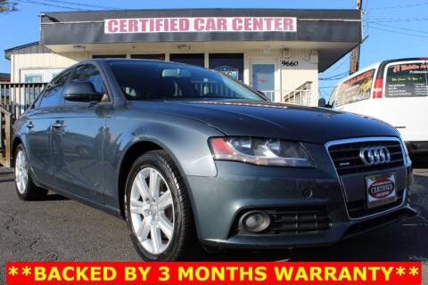 2009 Audi A4 for sale at CERTIFIED CAR CENTER in Fairfax VA