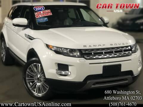 2012 Land Rover Range Rover Evoque for sale at Car Town USA in Attleboro MA