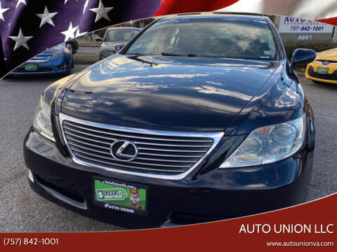 2008 Lexus LS 460 for sale at Auto Union LLC in Virginia Beach VA