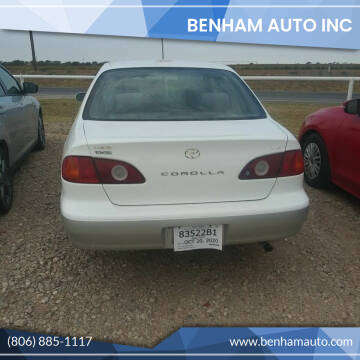 2002 Toyota Corolla for sale at BENHAM AUTO INC in Lubbock TX