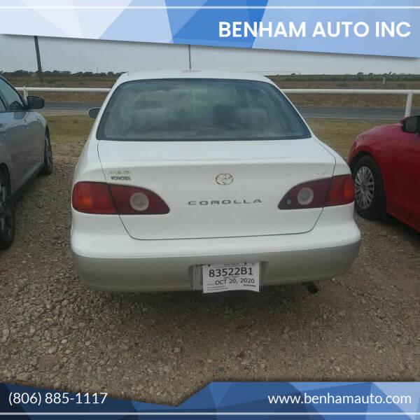 2002 Toyota Corolla for sale at BENHAM AUTO INC in Lubbock TX