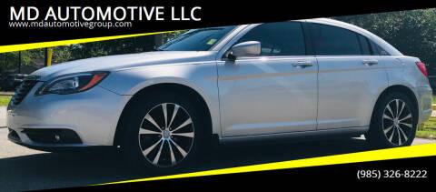2012 Chrysler 200 for sale at MD AUTOMOTIVE LLC in Slidell LA