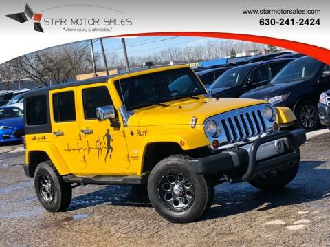 2011 Jeep Wrangler Unlimited for sale at Star Motor Sales in Downers Grove IL