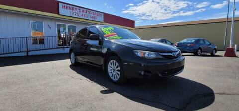 2010 Subaru Impreza for sale at Henry's Autosales, LLC in Reno NV