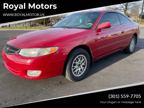 1999 Toyota Camry Solara for sale at Royal Motors in Hyattsville MD