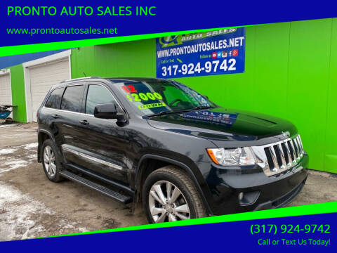2012 Jeep Grand Cherokee for sale at PRONTO AUTO SALES INC in Indianapolis IN