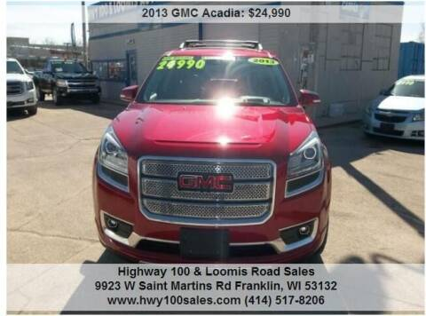 2013 GMC Acadia for sale at Highway 100 & Loomis Road Sales in Franklin WI