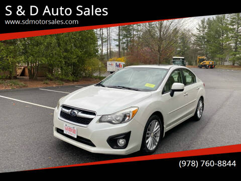 2012 Subaru Impreza for sale at S & D Auto Sales in Maynard MA