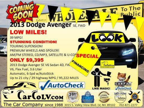 2013 Dodge Avenger for sale at The Car Company in Las Vegas NV