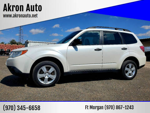 2011 Subaru Forester for sale at Akron Auto - Fort Morgan in Fort Morgan CO