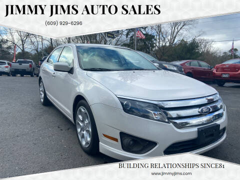 2010 Ford Fusion for sale at Jimmy Jims Auto Sales in Tabernacle NJ