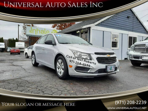 2015 Chevrolet Cruze for sale at Universal Auto Sales Inc in Salem OR