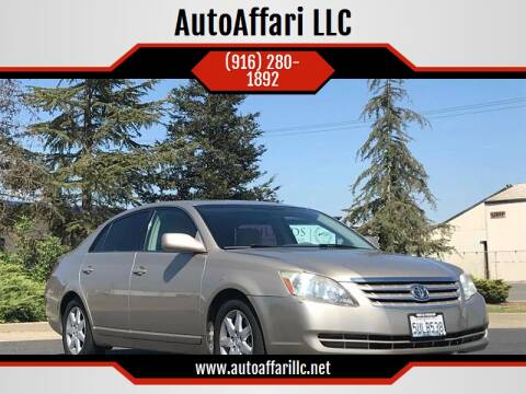 2006 Toyota Avalon for sale at AutoAffari LLC in Sacramento CA