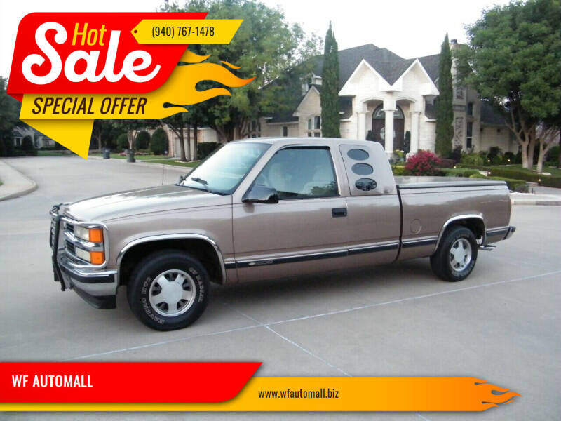 1996 Chevrolet C/K 1500 Series for sale at WF AUTOMALL in Wichita Falls TX