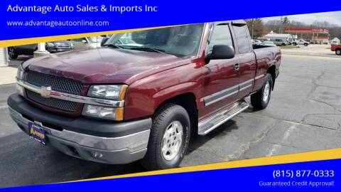 2003 Chevrolet Silverado 1500 for sale at Advantage Auto Sales & Imports Inc in Loves Park IL