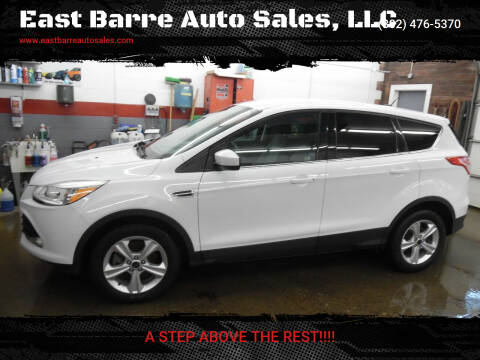 2014 Ford Escape for sale at East Barre Auto Sales, LLC in East Barre VT