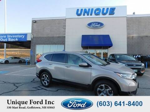 2018 Honda CR-V for sale at Unique Motors of Chicopee - Unique Ford in Goffstown NH