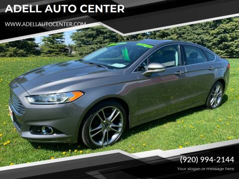 2014 Ford Fusion for sale at ADELL AUTO CENTER in Waldo WI