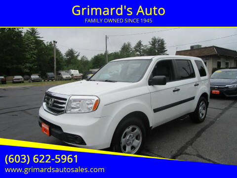 2015 Honda Pilot for sale at Grimard's Auto in Hooksett NH