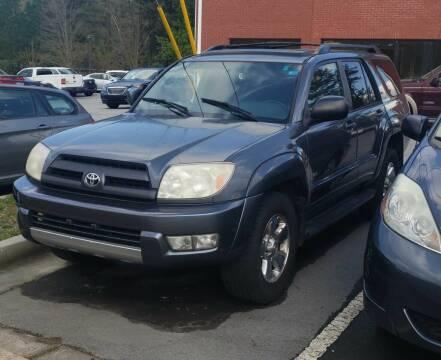 2004 Toyota 4Runner for sale at Credit Cars LLC in Lawrenceville GA