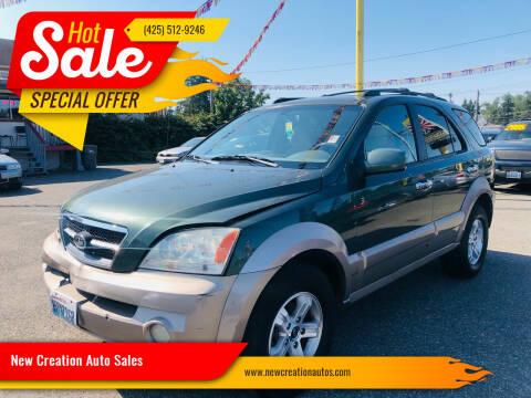 2004 Kia Sorento for sale at New Creation Auto Sales in Everett WA