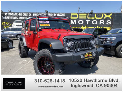 2018 Jeep Wrangler JK Unlimited for sale at Delux Motors in Inglewood CA