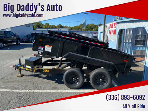2021 Dump Trailers 6x10, 6x12   for sale at Big Daddy's Auto in Winston-Salem NC
