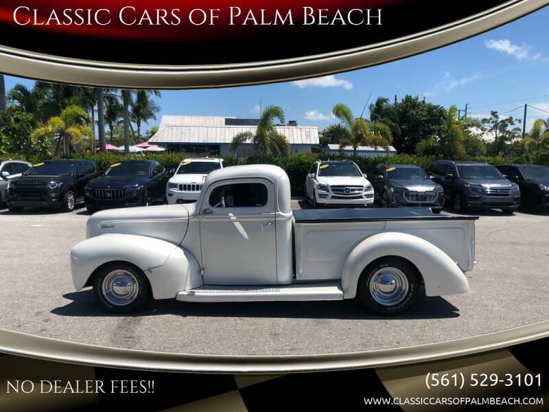 1941 Ford F-100 for sale at Classic Cars of Palm Beach in Jupiter FL