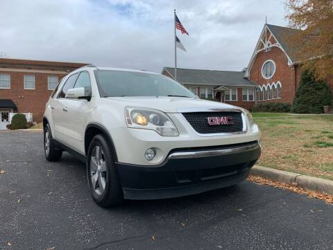 2011 GMC Acadia for sale at Automax of Eden in Eden NC