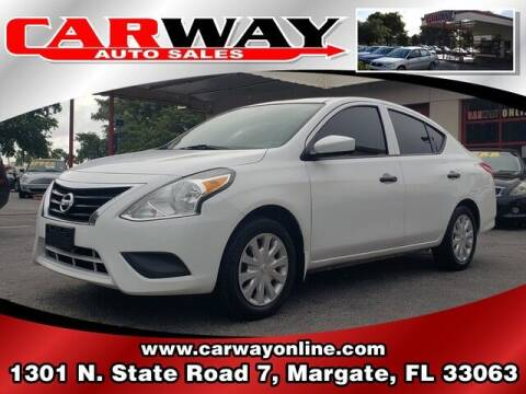 2016 Nissan Versa for sale at CARWAY Auto Sales in Margate FL